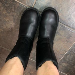 Black leather Uggs. Only wore a couple times!
